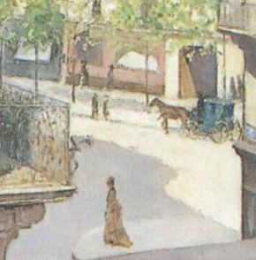 Caillebotte_-_Jeune_homme_à_la_fenetre Detail femme