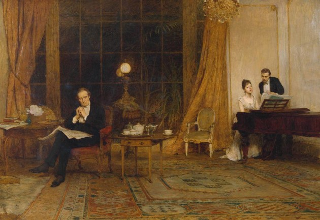 Her Mother's Voice exhibited 1888 by Sir William Quiller Orchardson 1832-1910