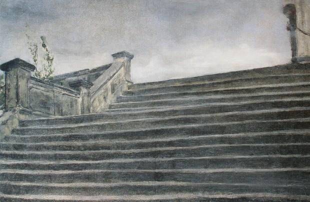 Segantini_1885_Etude d'escalier