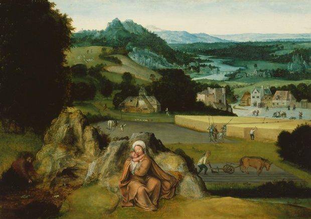 Patinir Repos_fuite_Egypte_1518-24_The Mineapolis Institute of Arts