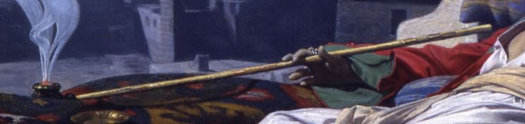 Lecomte_du_Nouy 1874_Le Songe de l'Eunuque_detail pipe