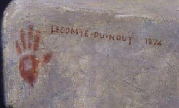 Lecomte_du_Nouy 1874_Le Songe de l'Eunuque_detail signature