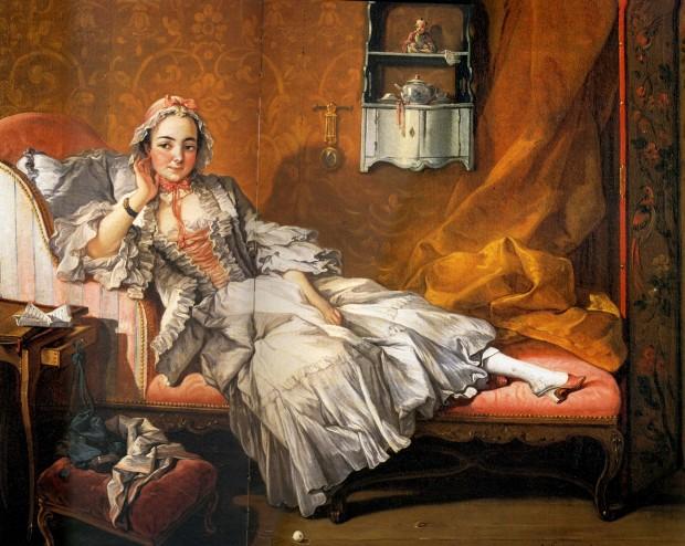 Boucher-Une dame sur son divan 1743