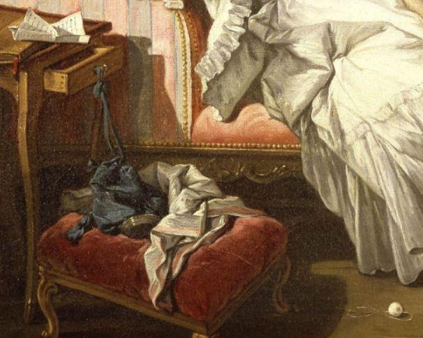 Boucher-Une dame sur son divan 1743_bourse et fil
