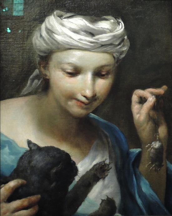 Crespi-Fillette-jouant-avec-un-chat-et-une-souris-morte-1700-Fizwilliam-museum