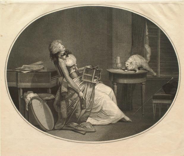 Minet aux aguets Debucourt 1796
