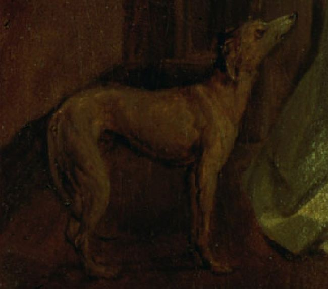 boilly A l'entree chien