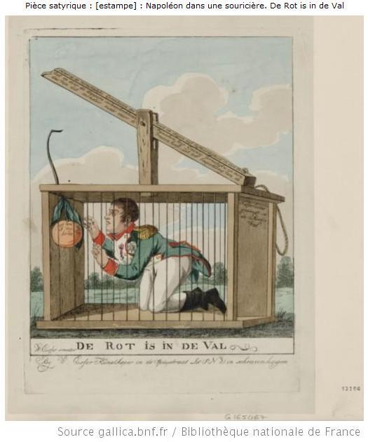 10-_Caricature_-_Napoleon_dans_une_souriciere_1815