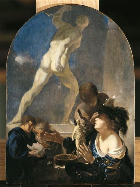 Adriaen van der Werff 1680 Atelier du sculpteur Louvre