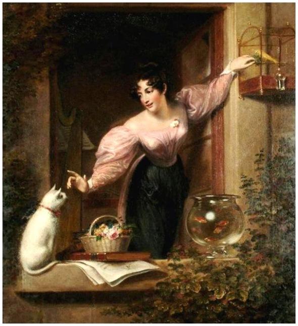 George Francis Joseph La Harpiste Collect privee