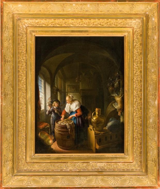 Gerrit Dou-La souriciere ca 1650 Musee Fabre