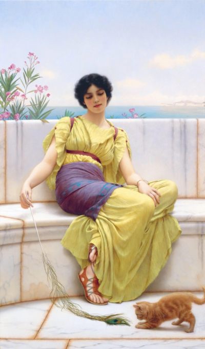 Idleness, by John William Godward
