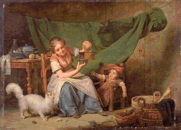 Martin Drolling la-femme-et-la-souris 1798 Orleans musee des beaux-arts