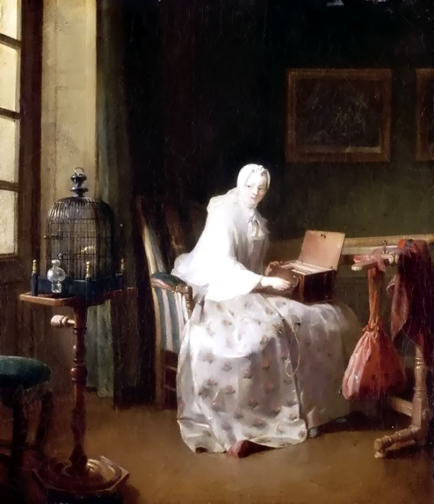 Chardin La serinette 1751