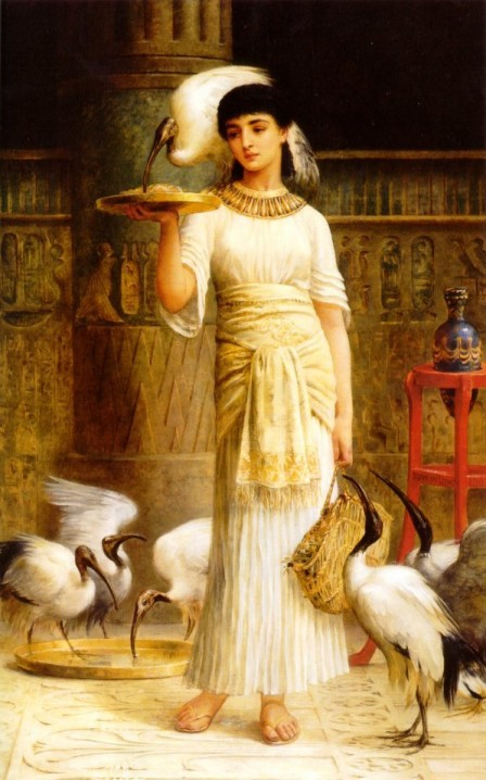 Edwin Long_Alethe_Attendant_of_the_Sacred_Ibis_in_the_Temple_of_Isis_f