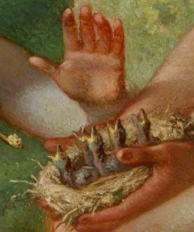 Jean-François_Millet_-_Spring_(Daphnis_and_Chloe)_1865 detail oisillons
