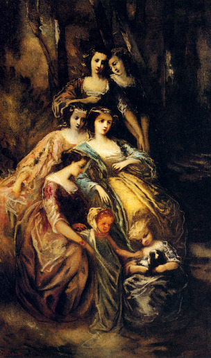 Monticelli.Adolphe.Empress.Eugenie.And.Her.Attendants