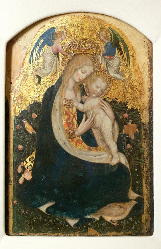 Madonna della quaglia - tempera e oro su tavola - Castevecchio