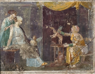Wall Fragment with a Cupid Seller from the Villa di Arianna, Stabiae, Roman 1st century A.D.