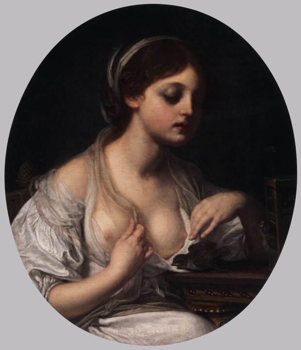 greuze Girl With Birds 1780-82 National Gallery of Art Washington