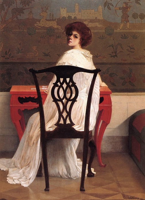 Harry Wilson Watrous - Solitaire, 1900