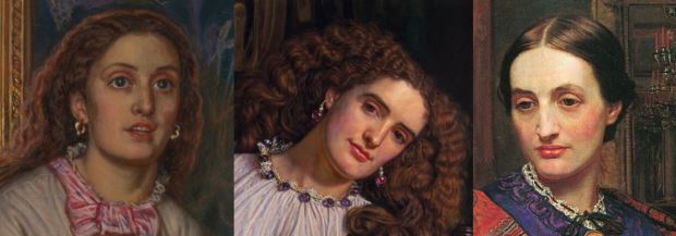 Hunt portrait-de fanny-1868_trois portraits