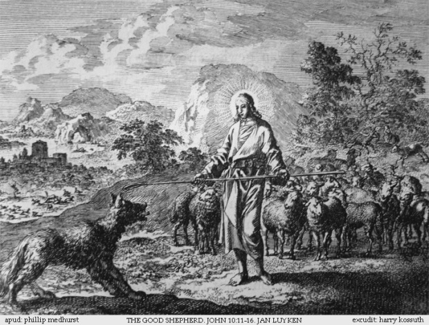 Teachings_of_Jesus_15_of_40_the_good_shepherd_Jan_Luyken_etching._Bowyer_Bible