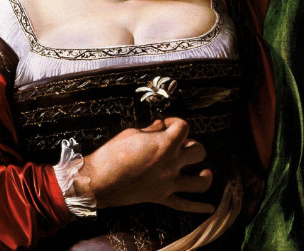 Caravaggio-Martha-and-Mary-Magdalene-1598 main droite