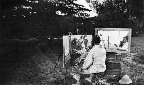 Lartigue Autoportrait au declencheur, Rouzat 1923