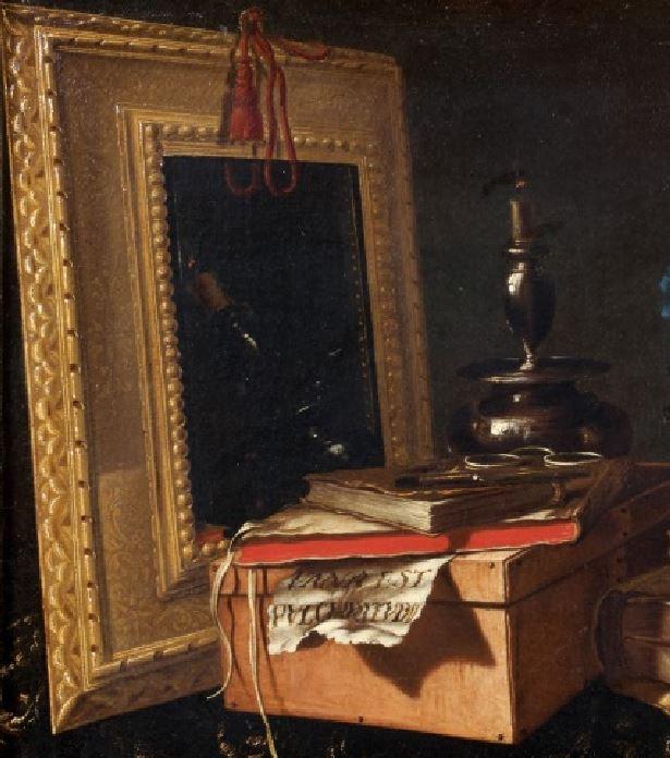 Maitre de la Vanité vers 1700  VANA EST PULCHRITUDO miroir