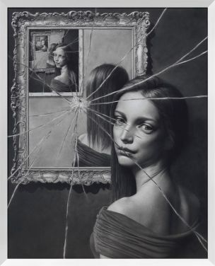 Taisuke Mohri, The Mirror 2, pencil on paper,2016