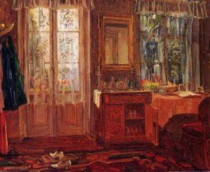 Truebner, Heinrich Wilhelm Balkonzimmer-Interieur am Starmberger See 1912 Germanisches-Nationalmuseum,-Nuremberg