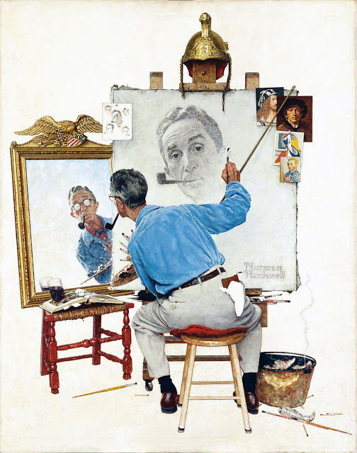 norman-rockwell-autoportrait