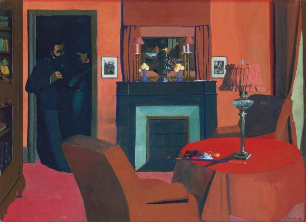Felix-Vallotton-La chambre rouge