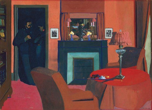 Felix-Vallotton-La chambre rouge