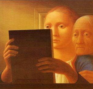George Tooker Mirror II 1963 Addison Gallery of American Art (Phillips Academy), Andover, MA, US