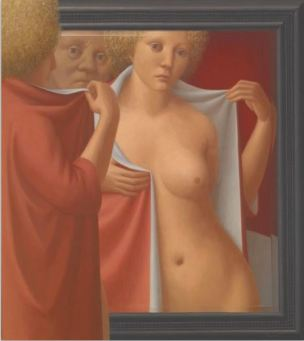 George Tooker Mirror III 1971 Indianapolis Museum of Art