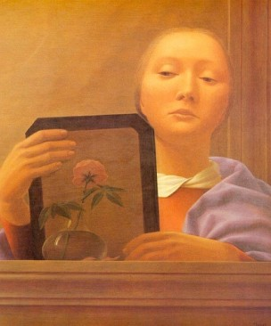 George Tooker Mirror IV 1977 Coll privee