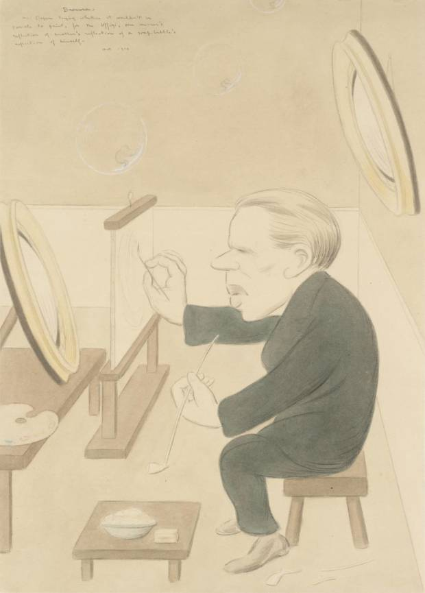Bravura: Sir William Orpen 1914 by Sir Max Beerbohm 1872-1956