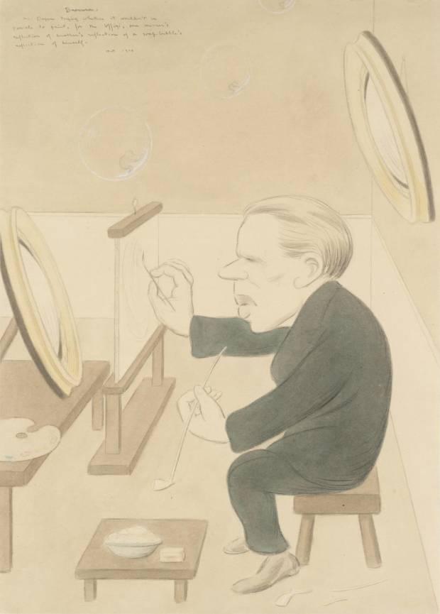Bravura: Sir William Orpen 1914 by Sir Max Beerbohm 1872-1956