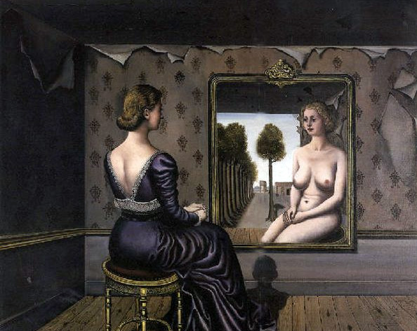 Paul-Delvaux Le Miroir 1936 Collection privee
