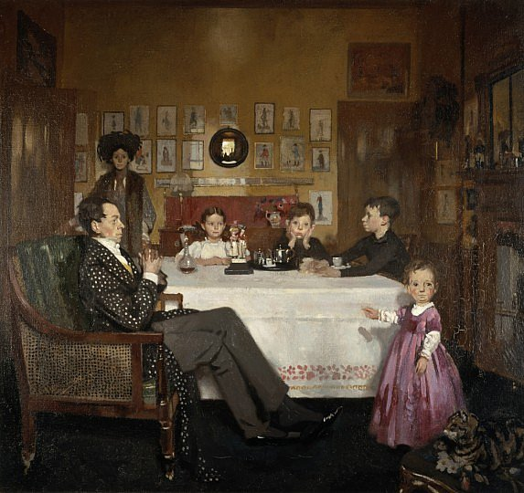 William Orpen 1907 A Bloomsbury Family ,