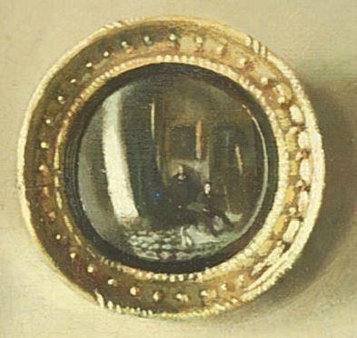 William Orpen 1909 portrait de Lewis R. Tomalin miroir