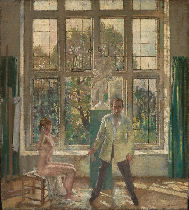 William Orpen summer-afternoon-artist-in-his-studio-with-a-model 1913 Museum of Fine Arts Boston