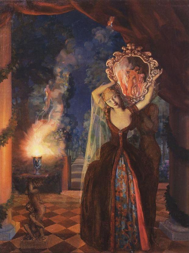 konstantin-somov enchantress 1915