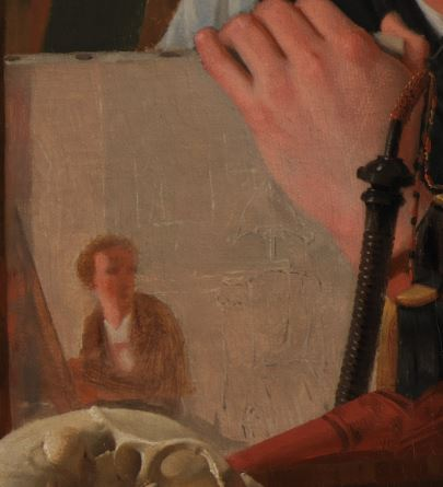 874px-Wilhelm_Bendz_-_A_Young_Artist_(Ditlev_Blunck)_Examining_a_Sketch_in_a_Mirror_-_Google_Art_Project_esquisse