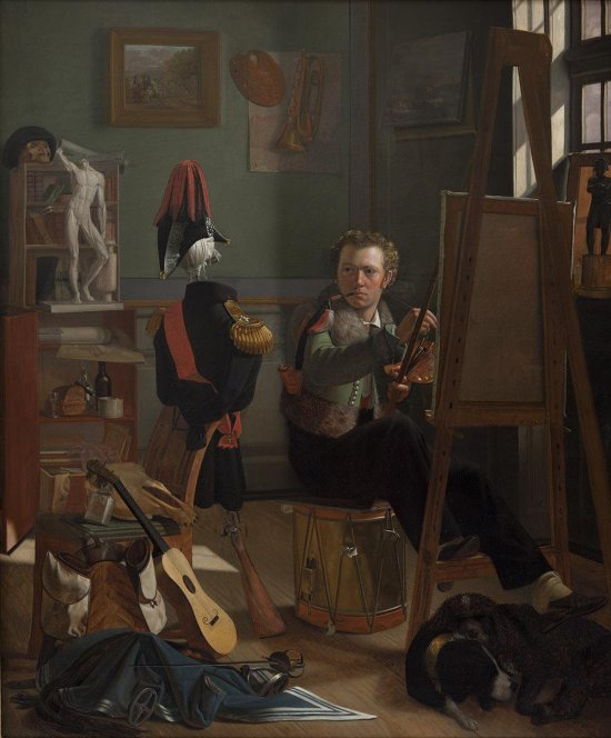 A Battle-Painter, Jorgen Sonne, in his Studio c 1826 ditlev blunck