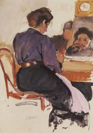 Autoportrait Zinaida Serebriakova 1907