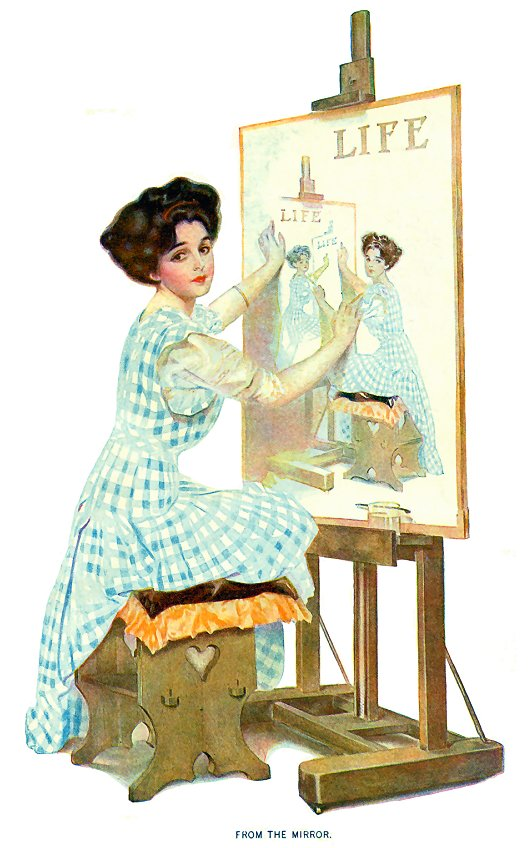 Coles_Phillips_1909_Life_mirror_recursive