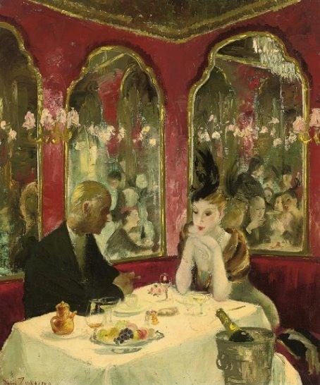 Doris Zinkeisen - Corner of the Cafe Royal